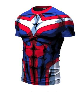 My Hero Academia 'All Might' Short Sleeve Compression RashGuard-RashGuardStore