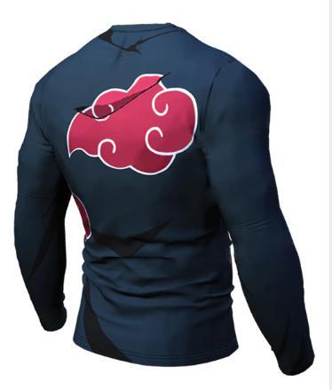 Naruto 'Akatsuki' Long Sleeve Compression Rash Guard-RashGuardStore