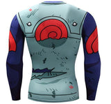 Naruto Kakashi 'Battle Damaged Armor' Long Sleeve Compression Rash Guard-RashGuardStore