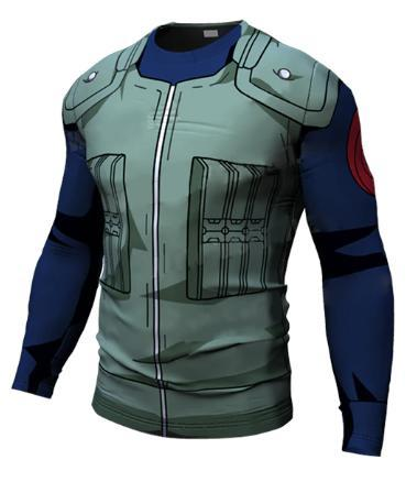 Naruto 'Kakashi' Long Sleeve Compression Rash Guard-RashGuardStore