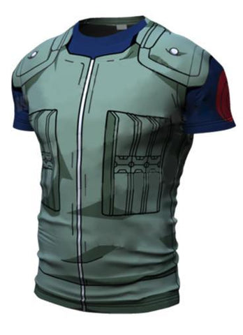 Naruto 'Kakashi' Short Sleeve Compression Rash Guard-RashGuardStore