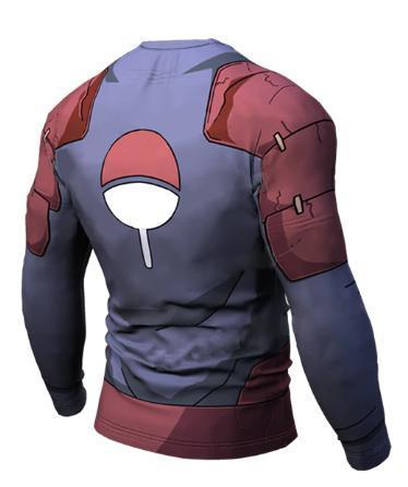 Naruto 'Madara' Long Sleeve Compression Rash Guard-RashGuardStore