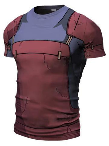 Naruto 'Madara' Short Sleeve Compression Rash Guard-RashGuardStore