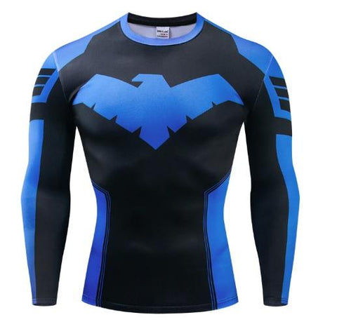 Nightwing 'Dick Grayson' Long Sleeve Dri-Fit Rashguard-RashGuardStore
