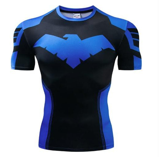 Nightwing 'Dick Grayson' Short Sleeve Dri-Fit Rashguard-RashGuardStore