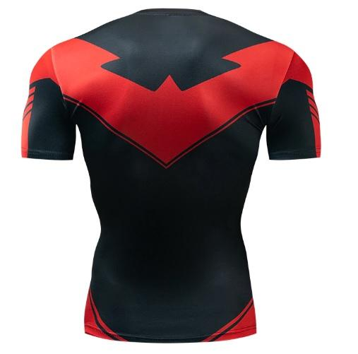 Nightwing 'Red' Short Sleeve Dri-Fit Rashguard-RashGuardStore