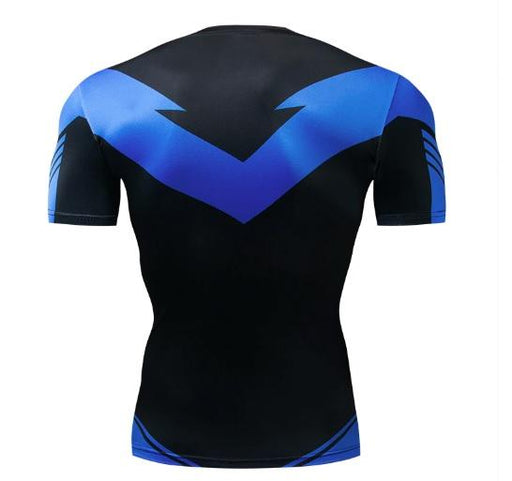 Nightwing Short Sleeve Dri-Fit Rashguard-RashGuardStore