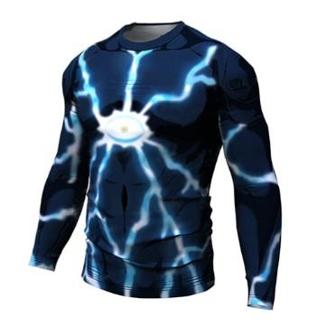 OnePunch Man 'Lord Boros' Long Sleeve Compression RashGuard-RashGuardStore