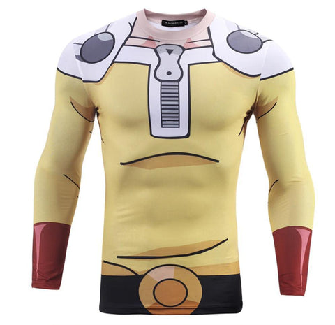OnePunch Man 'Saitama' Compression Long Sleeve Rash Guard-RashGuardStore