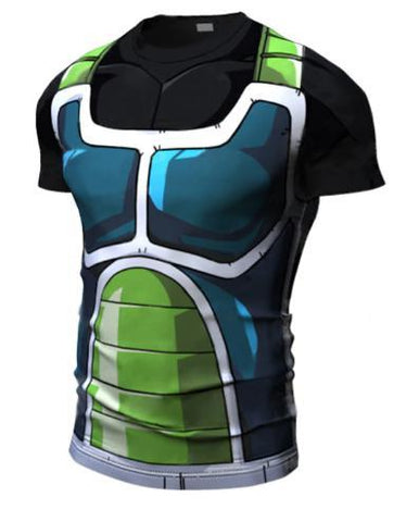 Onyx Bardock Armor Dragon Ball Z Short Sleeve Compression Rash Guard-RashGuardStore