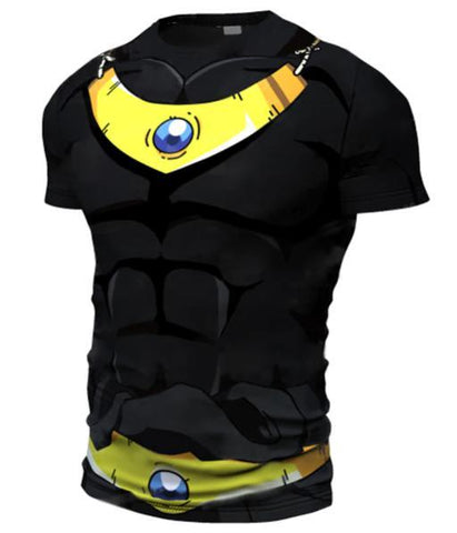 Onyx Broly Dragon Ball Z Short Sleeve Compression Rash Guard-RashGuardStore