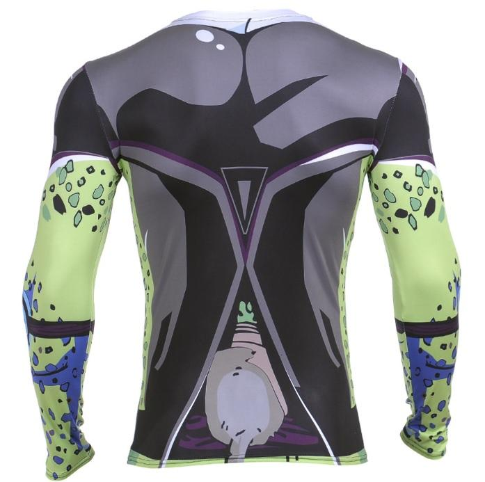 Perfect Cell Dragon Ball Z Long Sleeve Compression Rash Guard-RashGuardStore