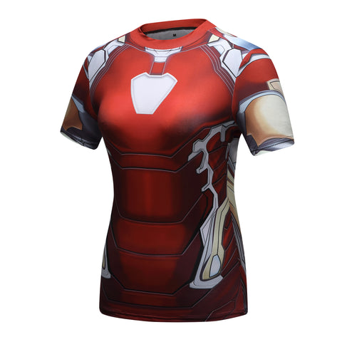Women's Iron Man Compression 'Mark 85' Short Sleeve Rashguard