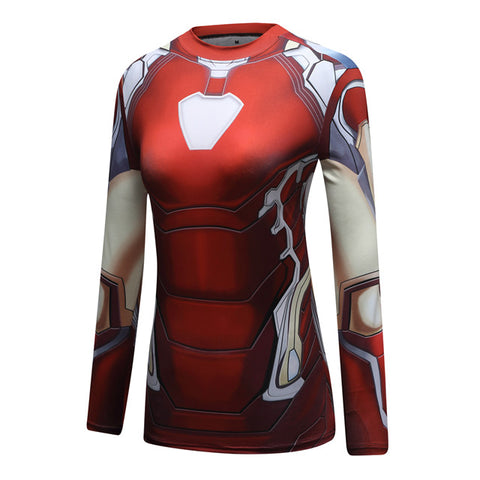 Women's Iron Man Compression 'Mark 85 ' End Game Long Sleeve Rashguard
