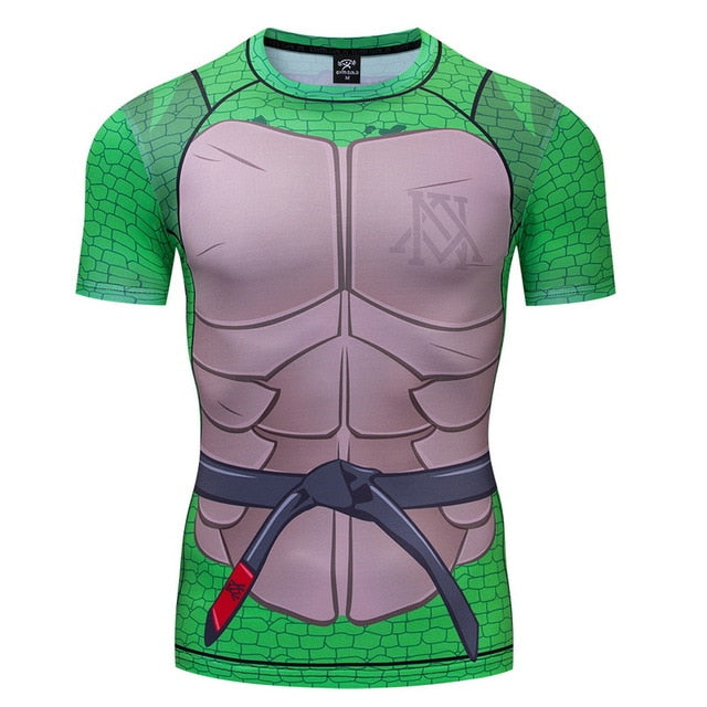 Teenage Mutant Ninja Turtles Compression Short Sleeve Rashguard