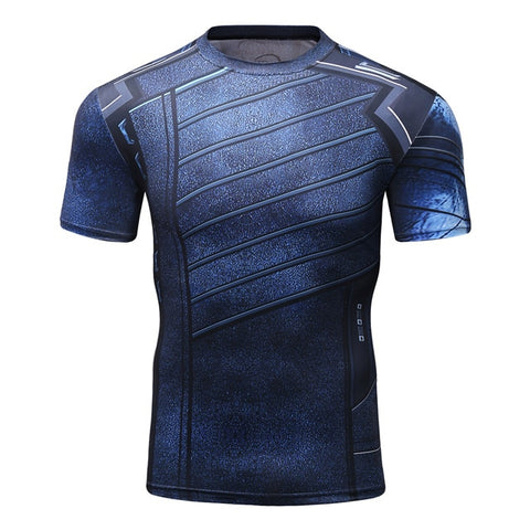 Buck 'Winter Soldier | Infinity War' Compression Elite Short Sleeve Rashguard