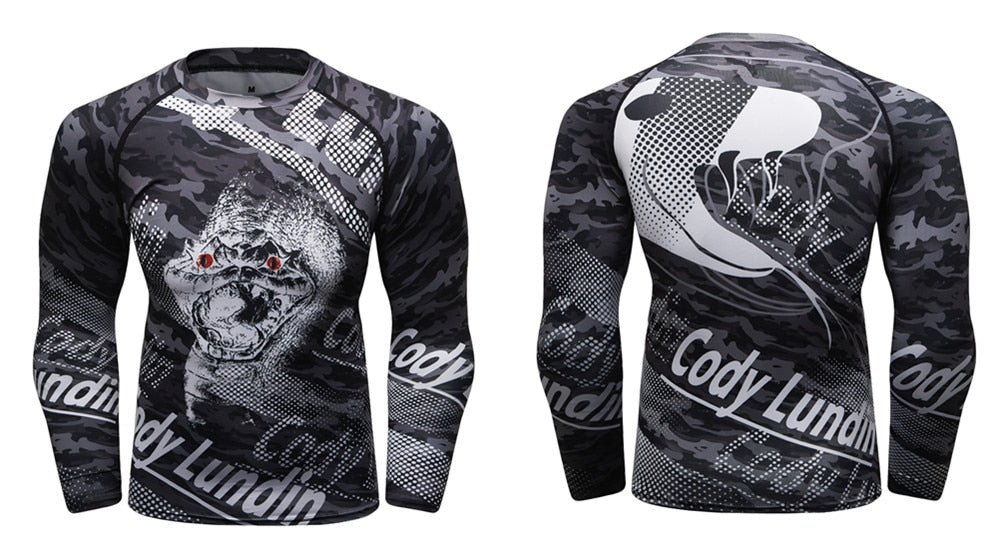 Rattle Snake Compression 'Snake Eyes' Elite Long Sleeve Rashguard
