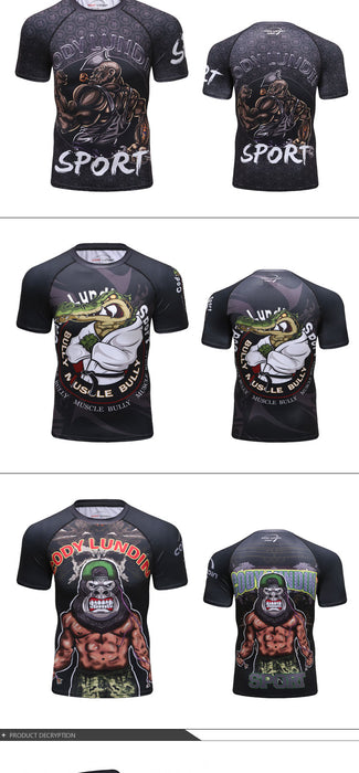 Crocodile Compression 'Dojo' Elite Short Sleeve Rashguard