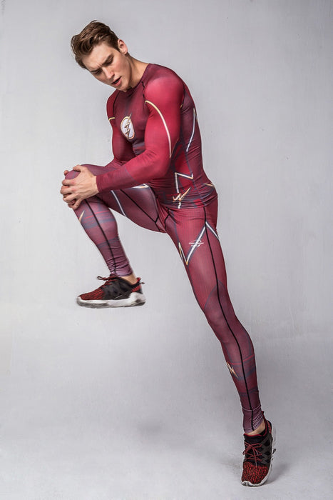 Men's The Flash Elite Compression Long Sleeve Rashguard Set