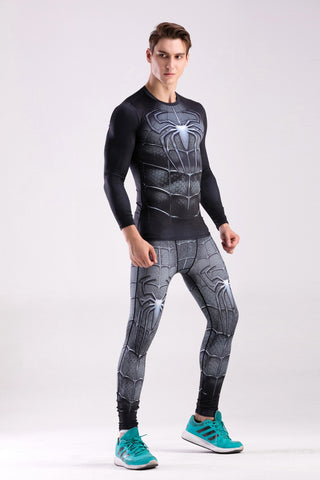 Men's Spider '3.0' Elite Compression Long Sleeve Rashguard Set