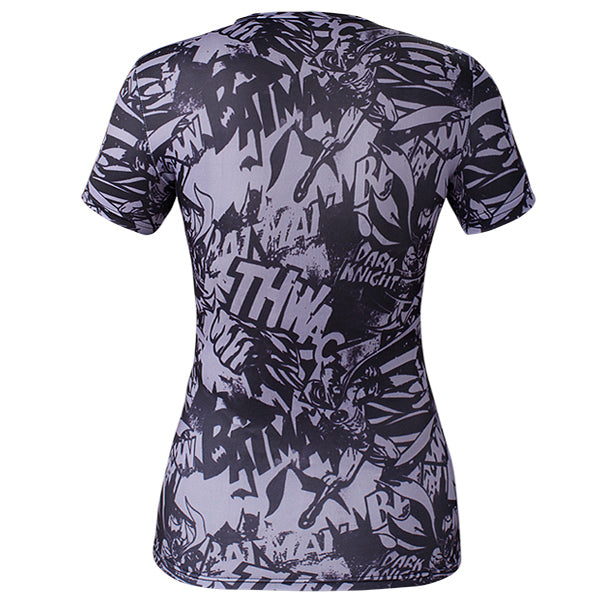 Women's Batman Compression 'Arkham' Short Sleeve Rashguard