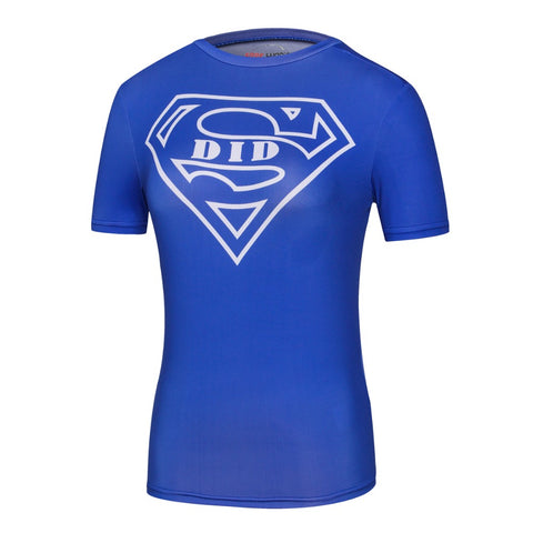 Women's Supergirl Compression 'S Did It' Short Sleeve Rashguard