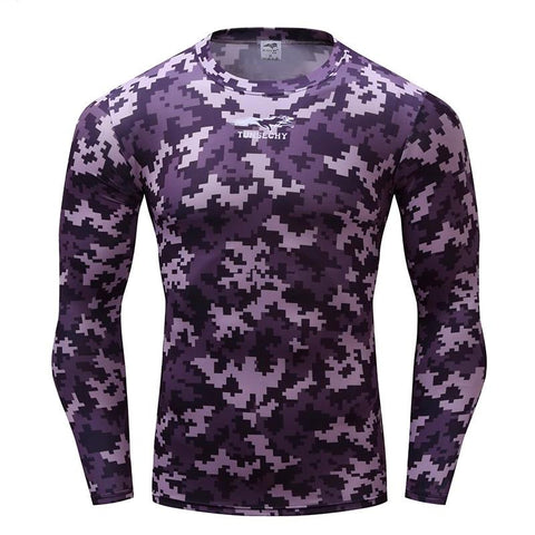 Camouflage Compression 'Urban Digital Camo' Long Sleeve Rashguard