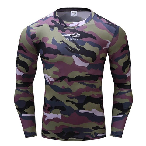 Camouflage Compression 'Jungle Camo' Long Sleeve Rashguard