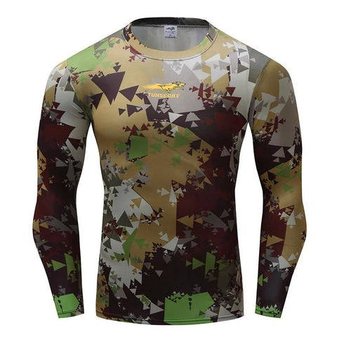 Camouflage Compression 'Swamp Camo' Long Sleeve Rashguard