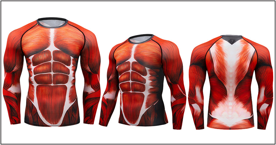 Musculature Compression Elite Long Sleeve Rashguard Set