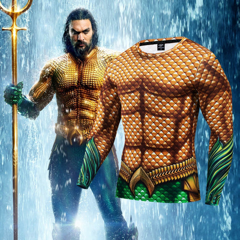 Aquaman Compression Premium Long Sleeve Rashguard