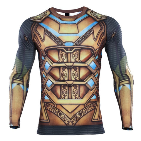 Spiderman Far From Home 'Mysterio' Compression Long Sleeve Rashguard