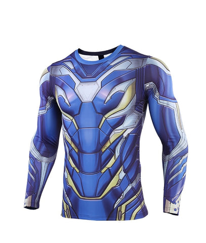 Tony Compression End Game 'Rescue' Premium Long Sleeve Rashguard