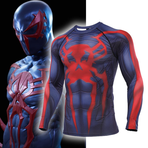 Spiderman Compression '2099' Long Sleeve Rashguard