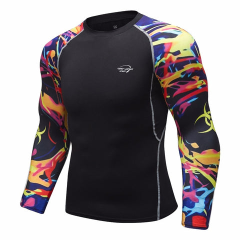 Tribal Compression 'Quarantine' Elite Long Sleeve Rashguard