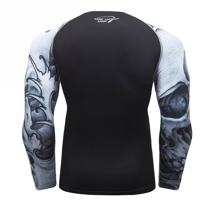 Tribal Compression 'Grey' Elite Long Sleeve Rashguard