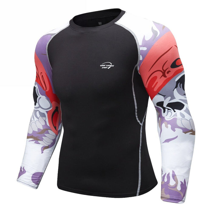 Skull Compression 'Hoist the Colors' Elite Long Sleeve Rashguard