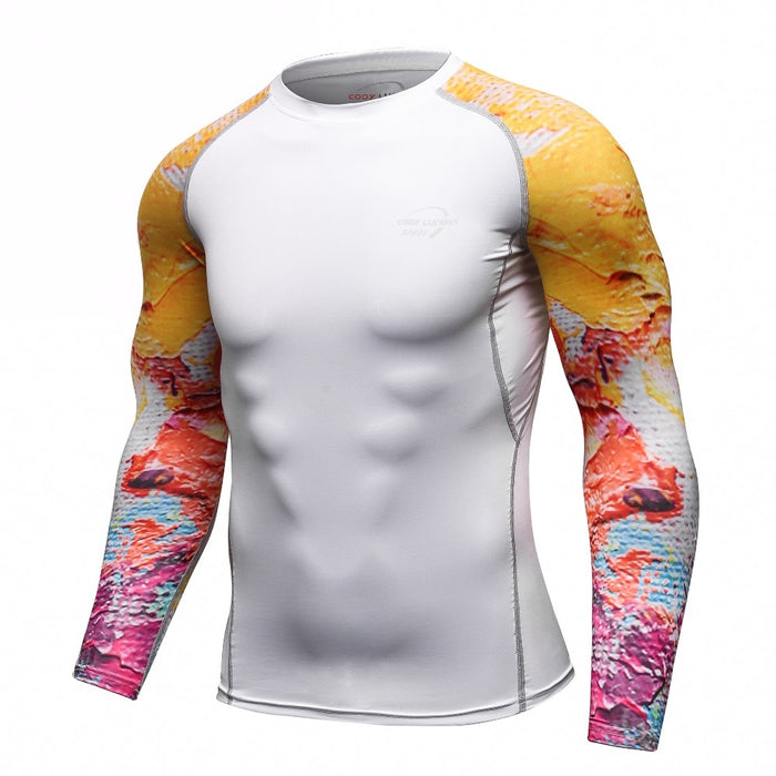 Tribal Compression 'Graffiti' Elite Long Sleeve Rashguard