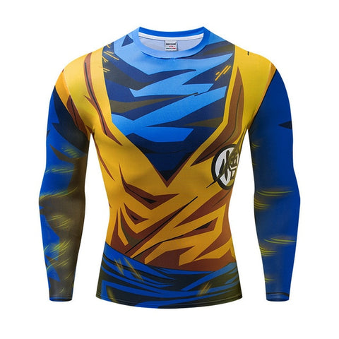 Super Saiyan Goku Dragon Ball Z Long Sleeve Compression Rashguard