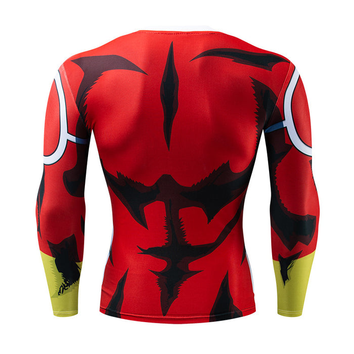 My Hero Academia 'All Might Silver Age' Long Sleeve Compression RashGuard