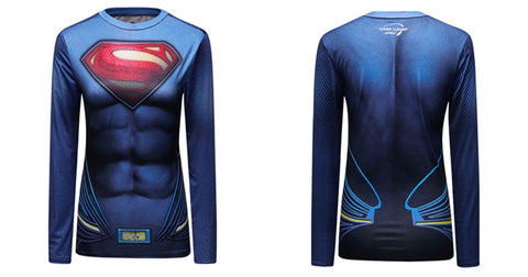 Women's Superman Compression Elite Long Sleeve Rashguard