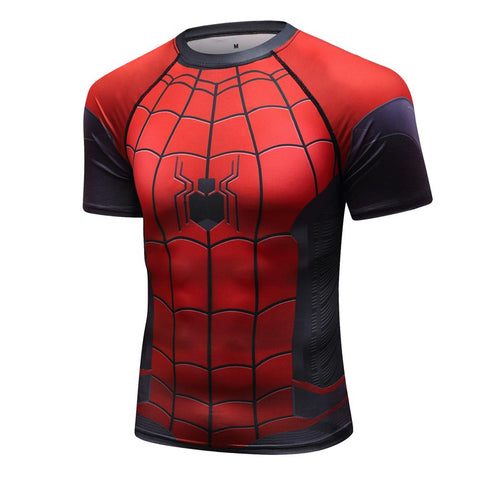Spiderman Compression 'Far From Home' Elite Short Sleeve Rashguard