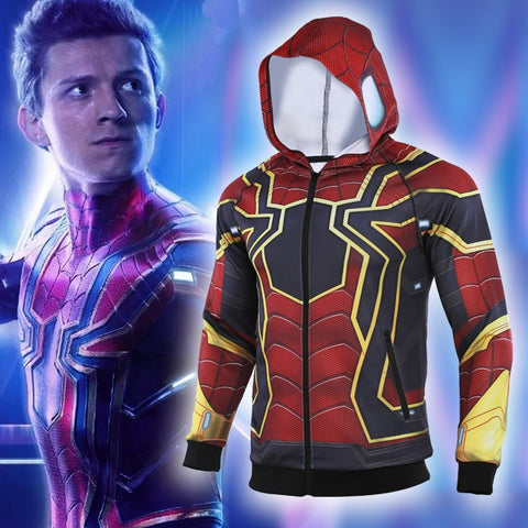 Men's Spiderman 'Far From Home | Iron Spider' Premium Zip Up Hoodie