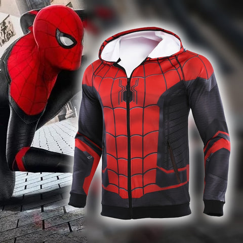 Men's Spiderman 'Far From Home' Premium Zip Up Hoodie