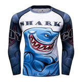 Great White Shark Compression 'Come At Me' Elite Long Sleeve Rashguard