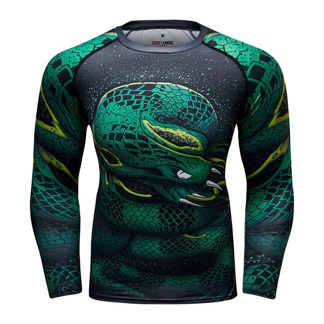 Viper Snake Compression 'Fangs' Elite Long Sleeve Rashguard