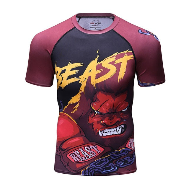 The Beast Compression Elite Short Sleeve Rashguard
