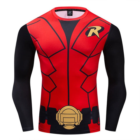 Robin Compression 'Robin the Boy Wonder' Long Sleeve Rashguard