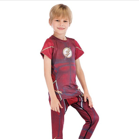 Kids Flash Compression 'Classic' Rashguard Set