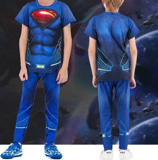 Kids Superman Compression 'Man of Steel' Rashguard Set